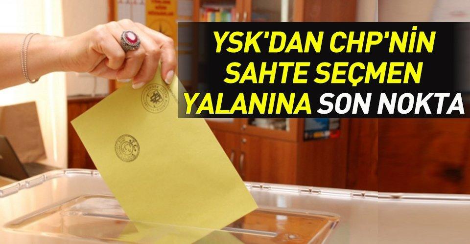 YSK'dan sahte seçmen açıklaması!