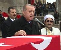 Erdoğan'dan Afrin şehidine veda konuşması