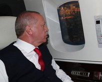 Başkan Erdoğan Çamlıca Camii'ni havadan inceledi