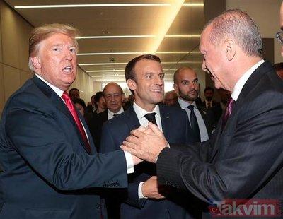 Üç liderden NATO zirvesinde samimi sohbet