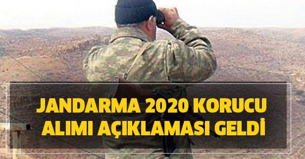 Jandarma 2020 korucu alımı açıklaması geldi