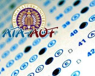 ATA AÖF sınav giriş belgesi açıklandı!