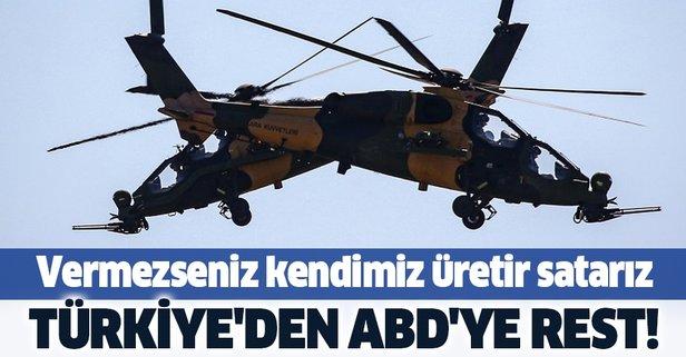 Türkiye'den ABD'ye rest!