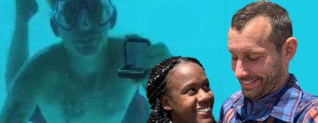 Su altında evlilik teklifi kötü bitti! Ölüm anı saniye saniye kaydedildi