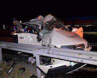 Konya'da korkunç kaza! TIR ezdi geçti