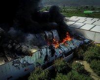 Bursa'da fabrika yangını! Alevler o noktalara da sıçradı