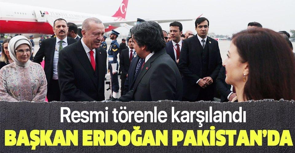 Son dakika: Başkan Erdoğan Pakistan'da