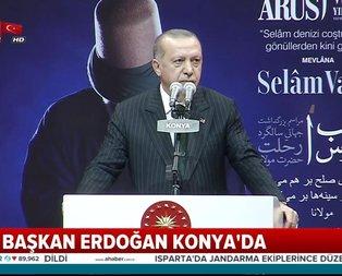 Başkan Erdoğan'dan Konya'da önemli açıklamalar