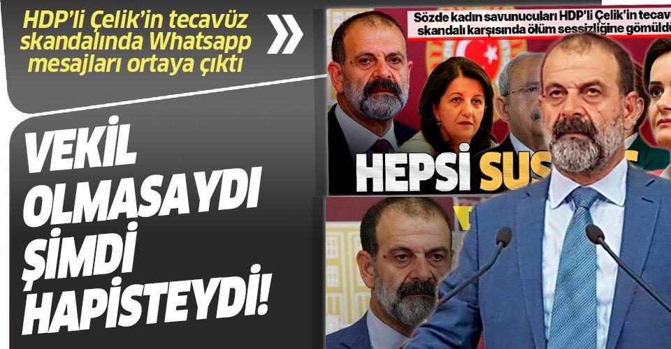 Son dakika: HDP'li Tuma Çelik'in tecavüz skandalında WhatsApp mesajları ortaya çıktı! Milletvekili olmasaydı...