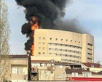 İstanbulda yangın paniği! Hastanede alarm