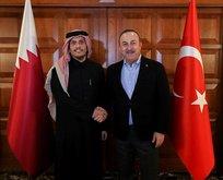 Bakan Çavuşoğlu Katarlı mevkidaşını kabul etti