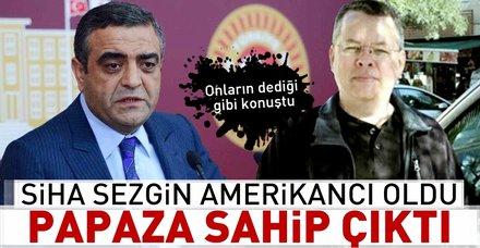 ABD Türkiye'ye yaptırım uygularken CHP'li Sezgin Tanrıkulu papaz Brunson'a sahip çıktı
