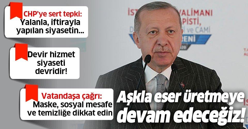 Başkan Recep Tayyip Erdoğan'dan İstanbul Havalimanı'nın 3. pistinin açılışında önemli açıklamalar