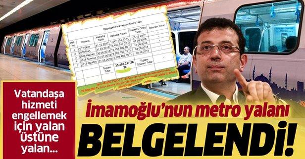 İmamoğlu'nun metro yalanı!