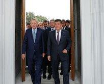 Başkan Erdoğan Kırgızistan'da İmam Serahsi Camisi'ni açtı