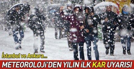 Hava durumu: Meteoroloji uyardı! Yılın ilk karı geliyor... İstanbul ve Ankara hava durumu