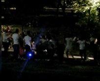 Maçka Parkı'nda koronavirüse aldırmadan müzik eşliğinde halay çektiler