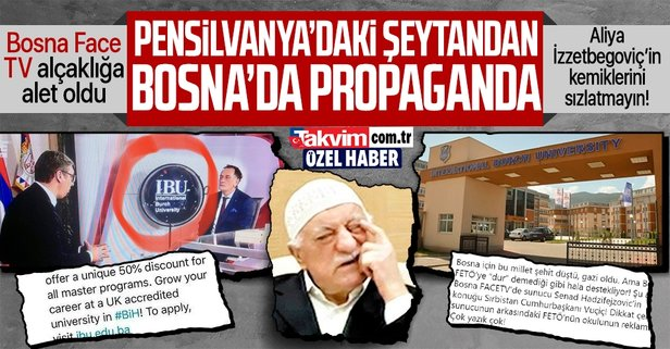 Bosna FACE TV'den FETÖ skandalı!