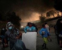 Moria sığınmacı kampında yangın çıktı