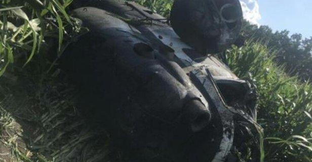 Ukrayna'da Rus yapımı Mİ-2 tipi helikopter düştü