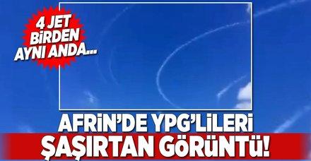 Afrin'de YPG'lileri şaşırtan görüntü