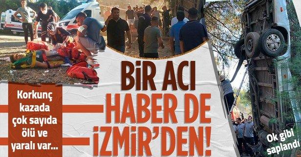 İzmir'de feci kaza! Ölü ve yaralılar var...