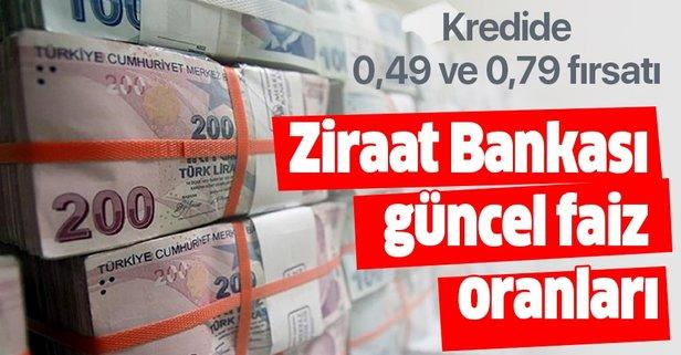Ziraat Bankası'ndan 0,49 ve 0,79 kredi faiz oranları müjdesi!