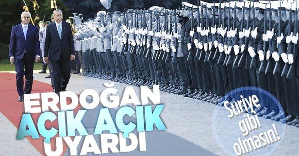 Başkan Erdoğan Almanya Cumhurbaşkanı ile görüştü