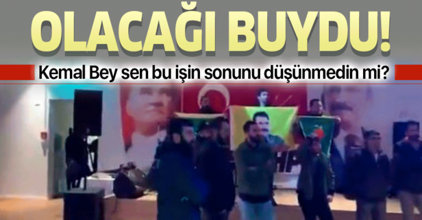 PKK'lılar CHP etkinliğini bastı! Polis olaya müdahale etti!