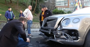 İstanbul'da 3 milyonluk kaza! Sabah satın aldığı lüks otomobille ultra lüks cipe çarptı