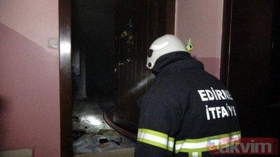 Edirne son dakika haberi: Bayram tatiline giden ailenin evi yandı! 50 kişi tahliye edildi