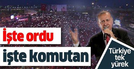 15 Temmuz Şehitler Köprüsü'nde Başkan Erdoğan'a İşte ordu, işte komutan sloganları
