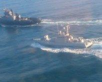 Önlerini kestiler! Savaş gemileri Rusya'ya girdi