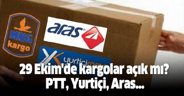 29 Ekim'de bugün kargolar açık mı? PTT, Yurtiçi, Aras...