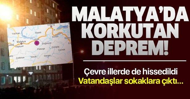 Malatya'nın Kale ilçesinde korkutan deprem!