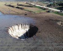 İzmir Menderes'te şoke eden görüntü! Fazla yağıştan dolayı...