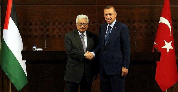 Başkan Erdoğan Filistin Devlet Başkanı ile görüştü