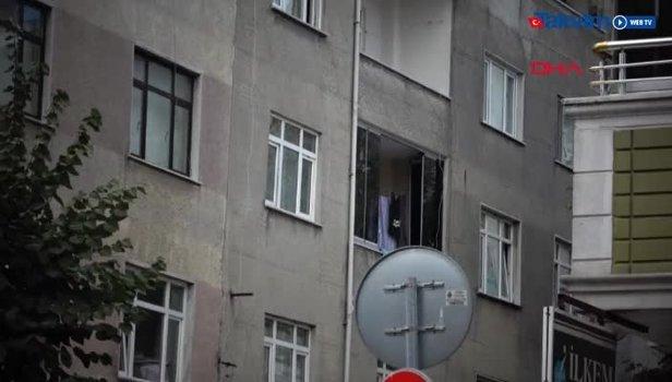 Sultangazi'de babasından kaçan çocuk balkondan atladı (Video)