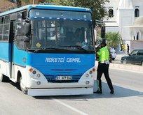 Polis minibüsteki 'roket'i affetmedi
