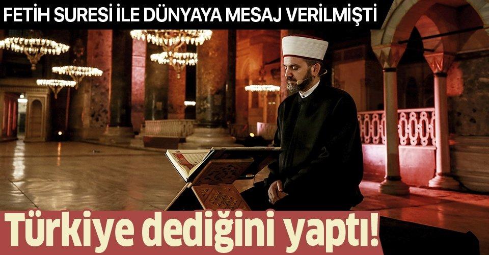 İstanbul'un fethinin 567. yıl dönümünde Fetih Suresi okunmuştu... Ayasofya ibadete açılıyor!