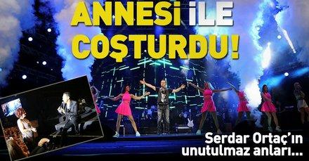 Serdar Ortaç Harbiye konserinde annesiyle düet yaptı! Serdar Ortaçın üzerindeki 17 kiloluk ceket dikkat çekti