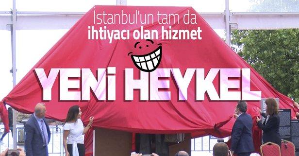 İstanbul'a dev hizmet: Yeni heykel