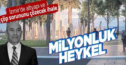 İzmir'de CHP'li Tunç Soyer'den fahiş heykel ihalesi: 1 milyon 915 bin liralık