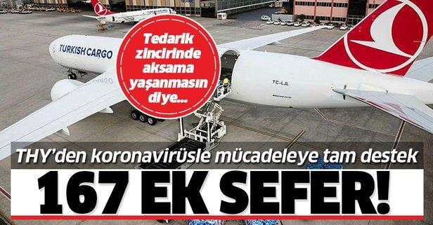 Turkish Cargo'dan 167 ek sefer desteği