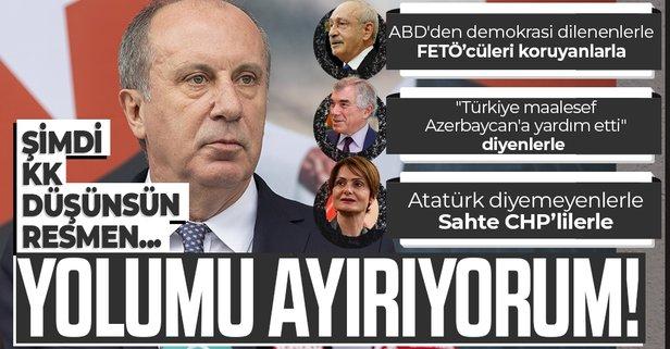 CHP'li İnce partisinden istifa etti