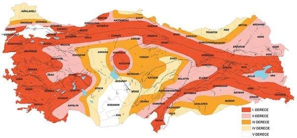 Türkiyenin Yeni Deprem Haritası 22 Yıl Sonra Değişti Takvim