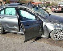 Ünlü sanatçı trafik kazası geçirdi!