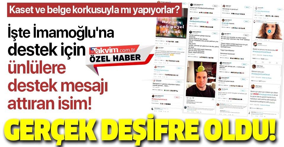 İmamoğlu'na destek için sanatçılara tweet attıran kişinin ID İletişim'in sahibi Ayşe Barım olduğu ortaya çıktı