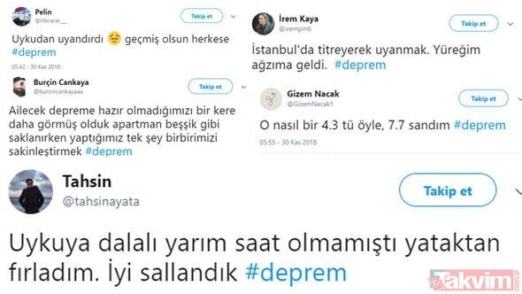 Yalova Çınarcık'ta deprem oldu! Sosyal medya deprem ile sallandı