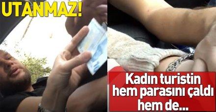 İstanbulda taksici kadın turisti böyle taciz etti